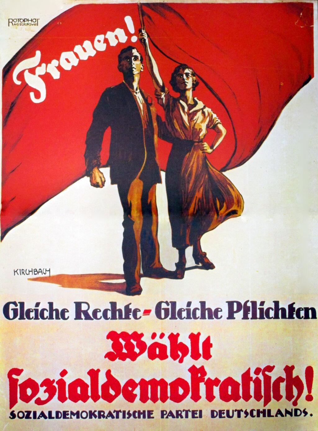 Wahlplakat von 1919
